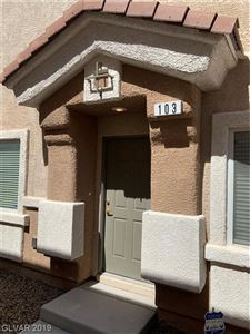 Photo of 4605 BELL CORD Avenue #103, North Las Vegas, NV 89031 (MLS # 2108158)