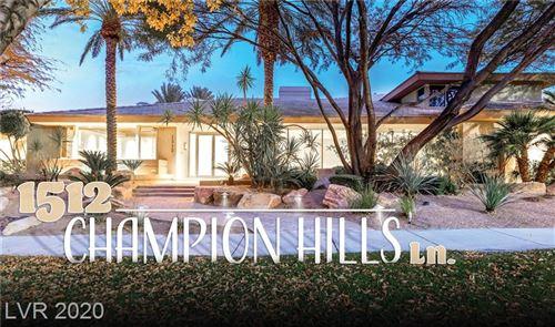 Photo of 1512 CHAMPION HILLS Lane, Las Vegas, NV 89134 (MLS # 2256717)