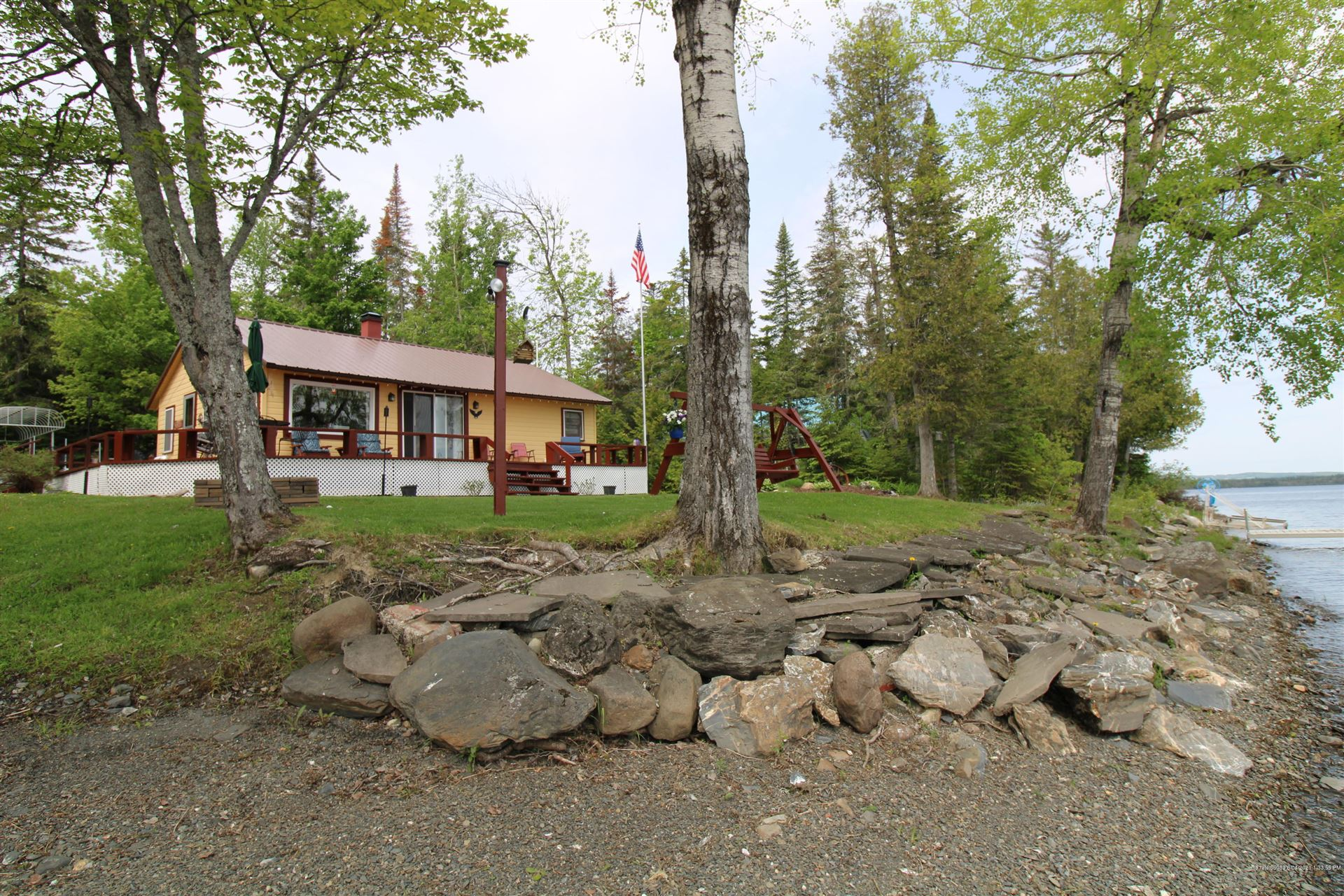 Photo of 498 West Side Road, Cross Lake Township, ME 04779 (MLS # 1494651)