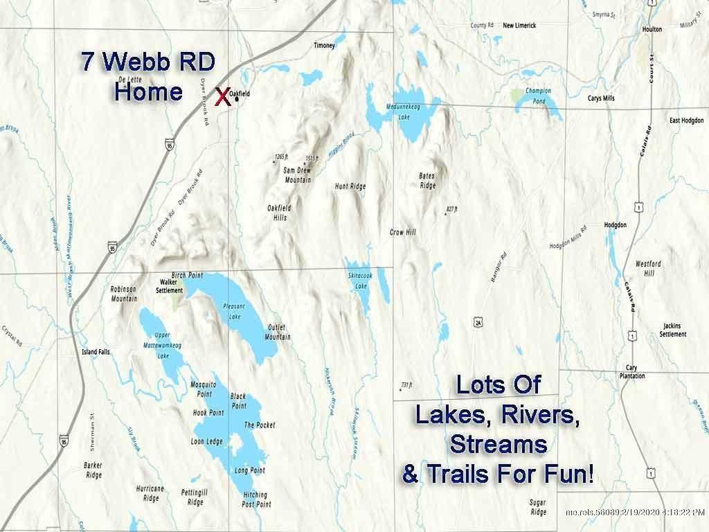 Photo of 7 Webb Road, Oakfield, ME 04763 (MLS # 1444891)