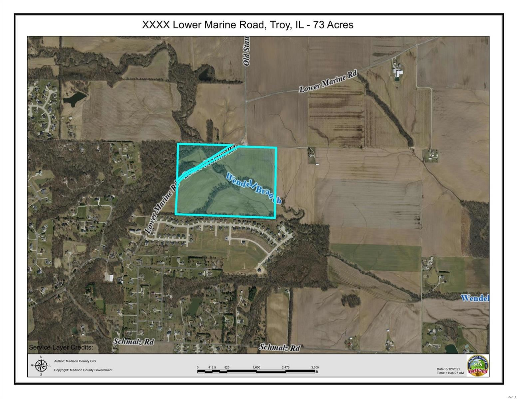 0 Lower Marine Road, Troy, IL 62294 - MLS#: 19046922