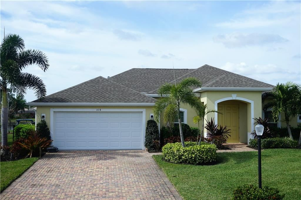 478 SW Vista Lake Drive, Port Saint Lucie, FL 34953 - #: M20021371