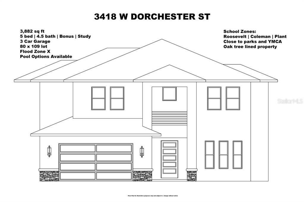3418 W DORCHESTER STREET, Tampa, FL 33611 - MLS#: T3293858