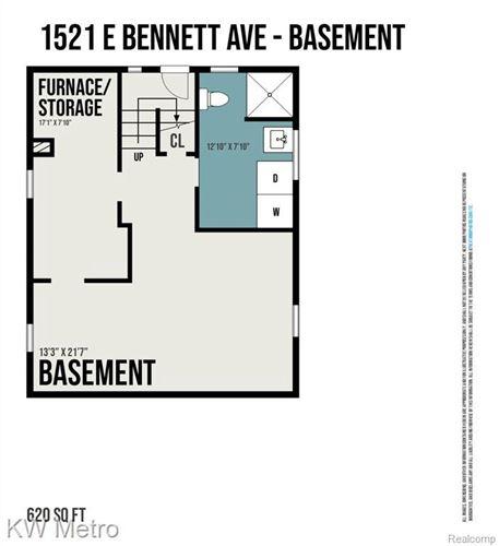 Tiny photo for 1521 E BENNETT AVE, Ferndale, MI 48220-2638 (MLS # 40121370)