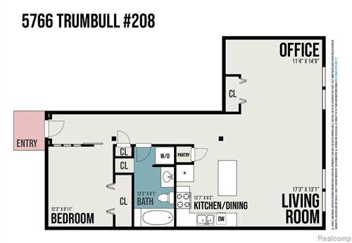 Tiny photo for 5766 TRUMBULL UNIT#208 ST, Detroit, MI 48208-1776 (MLS # 40167999)