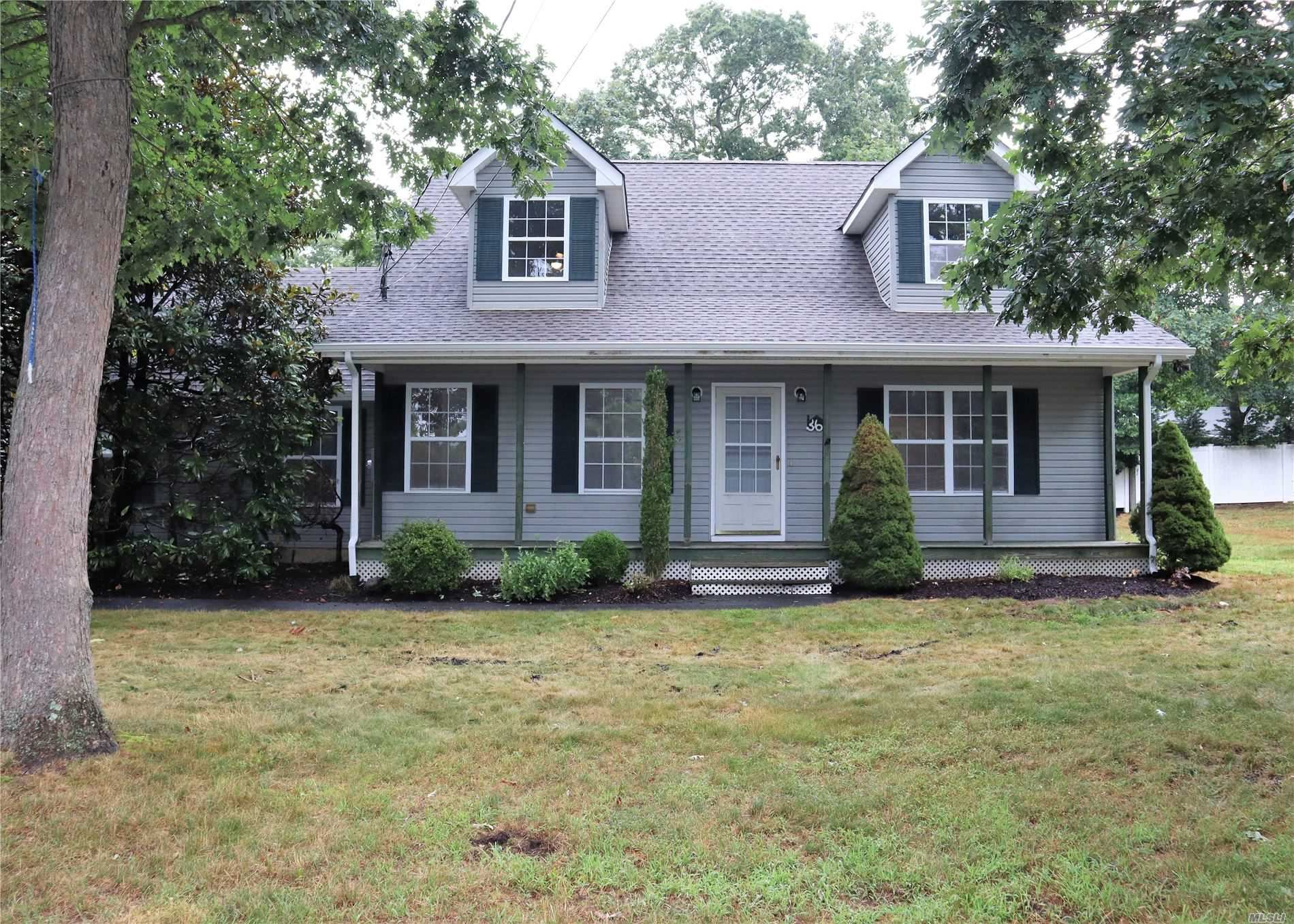 36 A Miller Ave, East Moriches, NY 11940 - MLS#: 3236340