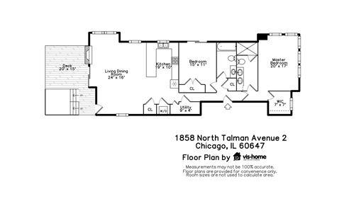 Tiny photo for 1858 N Talman Avenue #2, Chicago, IL 60647 (MLS # 10764793)