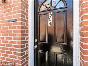 Photo of 504 WYETH ST, BALTIMORE, MD 21230 (MLS # BA10320088)