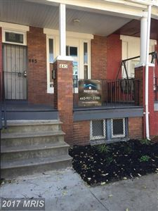 Photo of 445 28TH ST, BALTIMORE, MD 21218 (MLS # BA10090282)