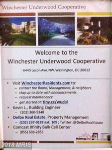Tiny photo for 6445 LUZON AVE NW #212, WASHINGTON, DC 20012 (MLS # DC10216772)