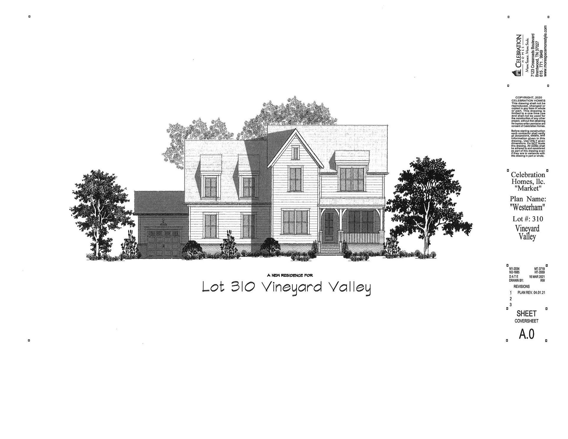 7101 Neills Branch Dr, College Grove, TN 37046 - MLS#: 2299109