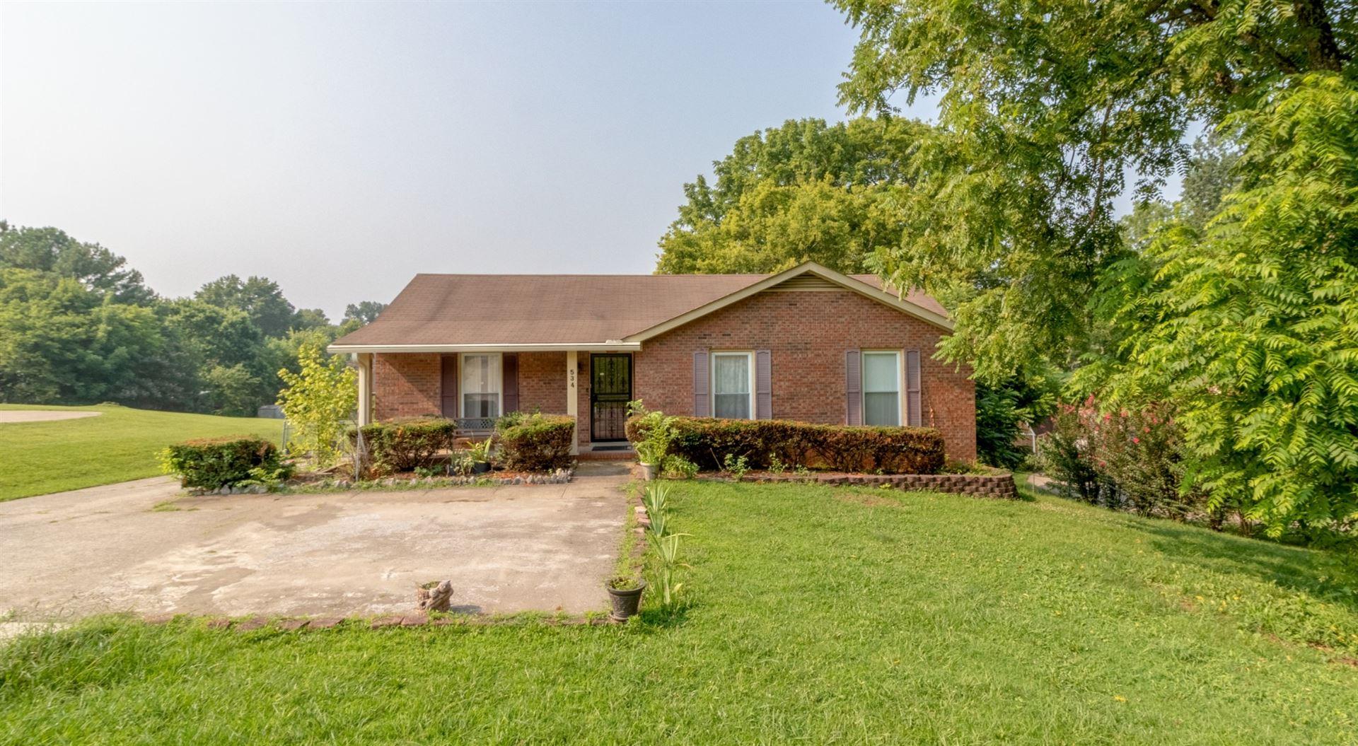 534 Pollard Rd, Clarksville, TN 37042 - MLS#: 2275378