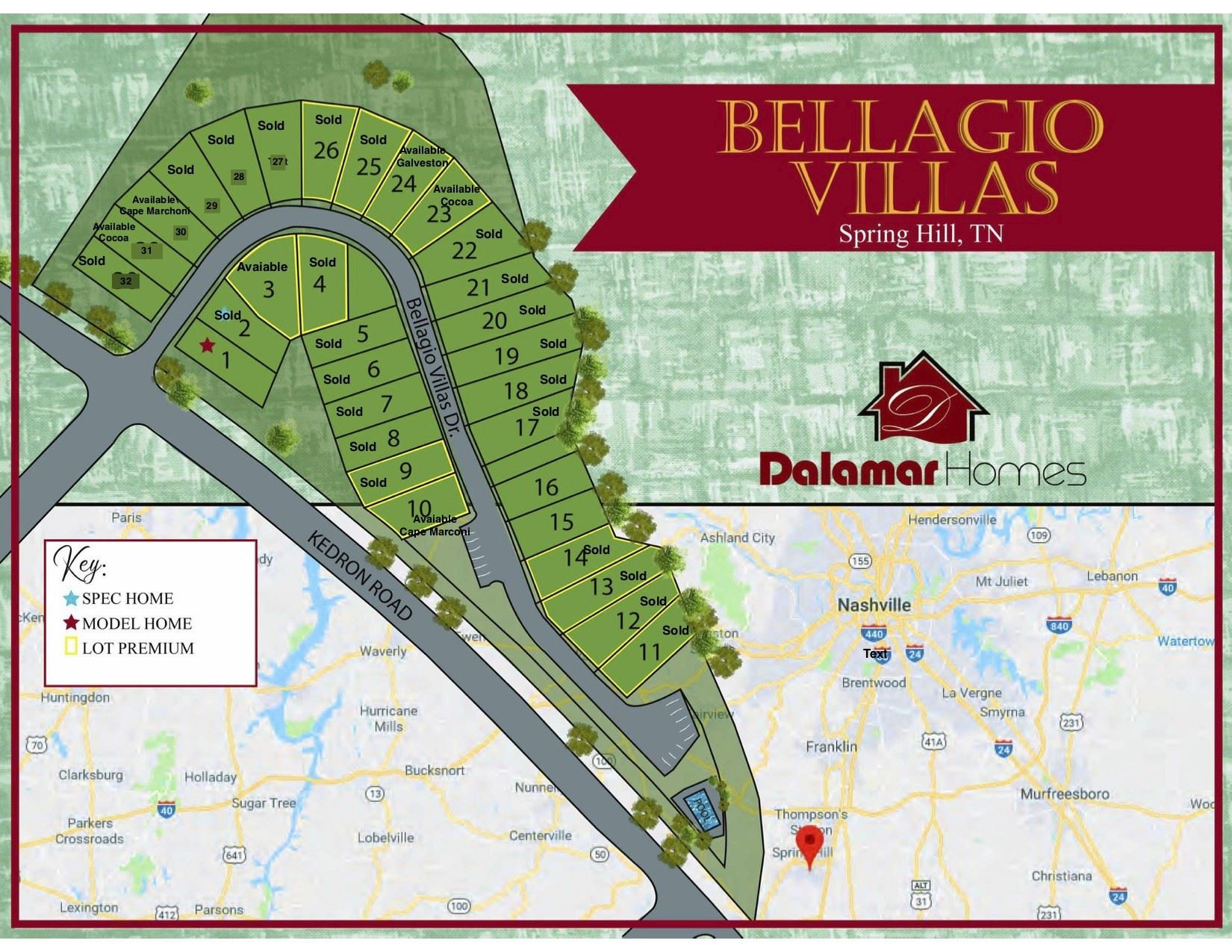 117 Bellagio Villas Drive, Spring Hill, TN 37174 - MLS#: 2220848