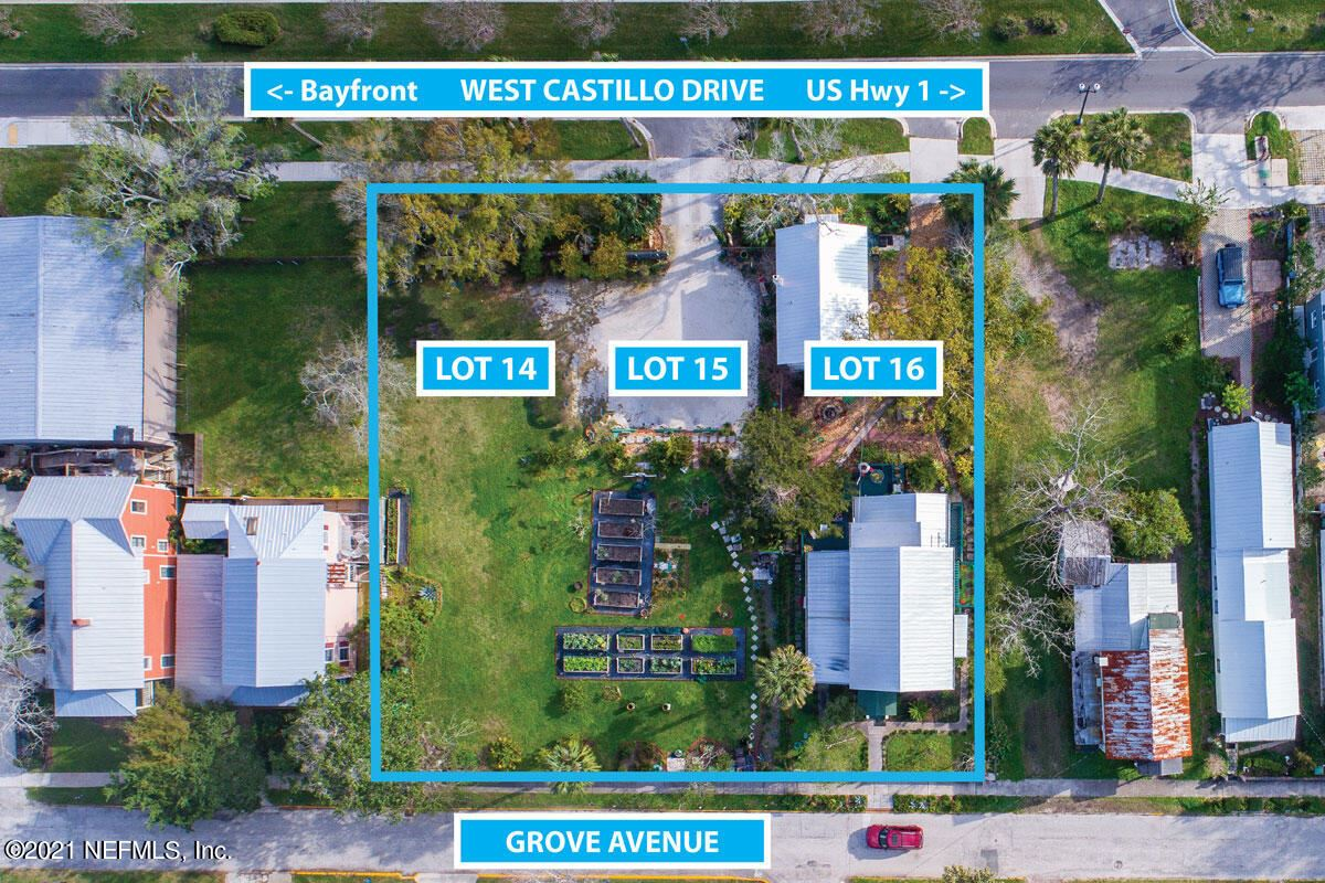 33 GROVE AVE #Lot No: 14, 15 and, Saint Augustine, FL 32084 - MLS#: 1095266