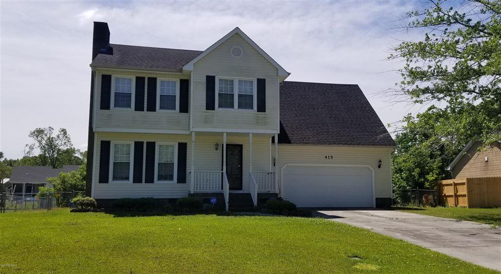 415 Raintree Road, Jacksonville, NC 28540 - MLS#: 100164070