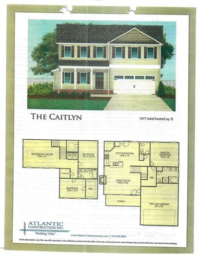 Photo of 106 Woodwater Drive, Richlands, NC 28574 (MLS # 100212170)