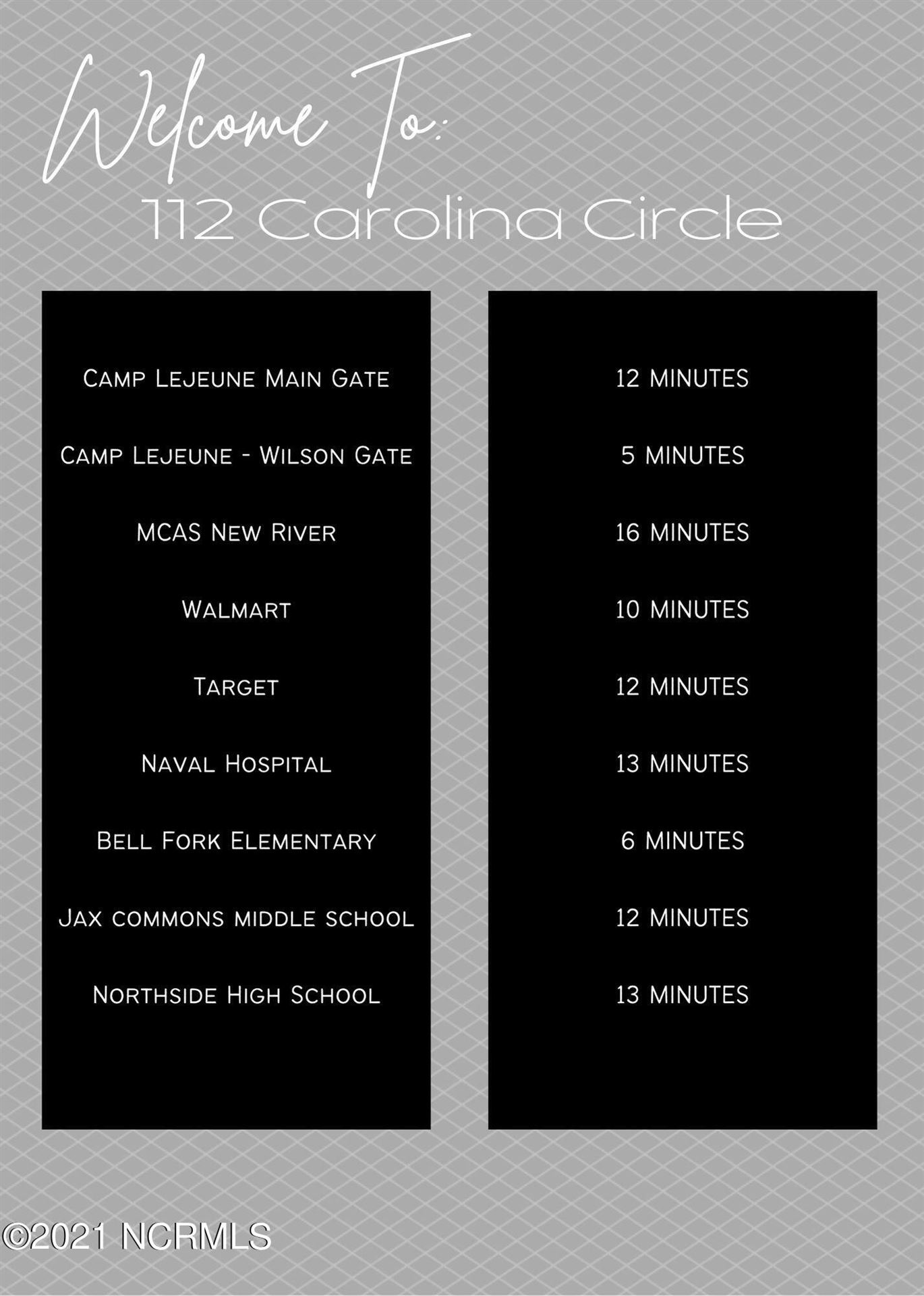 Photo of 112 Carolina Circle, Jacksonville, NC 28546 (MLS # 100292211)