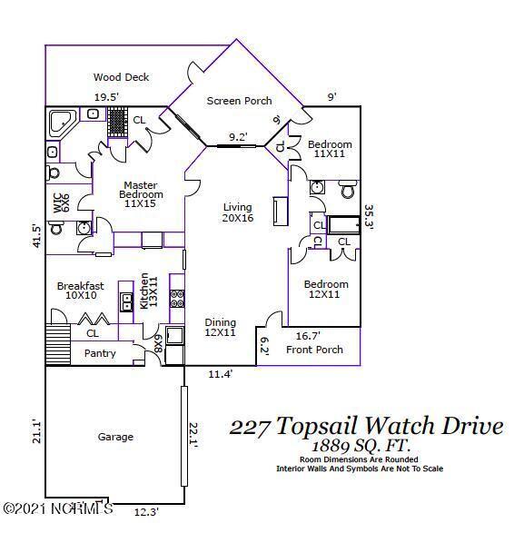 Photo of 227 Topsail Watch Drive, Hampstead, NC 28443 (MLS # 100296245)