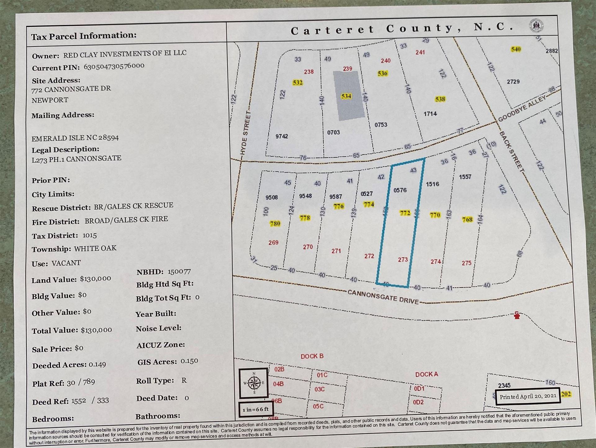 Photo of 772 Cannonsgate Drive, Newport, NC 28570 (MLS # 100267376)