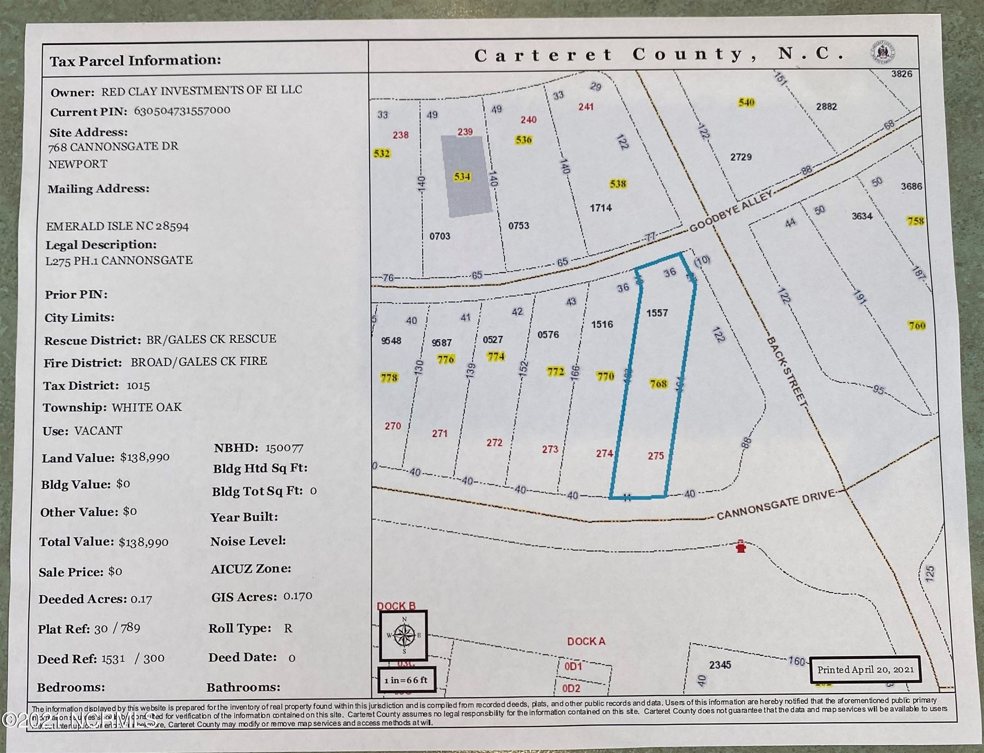 Photo of 768 Cannonsgate Drive, Newport, NC 28570 (MLS # 100267379)