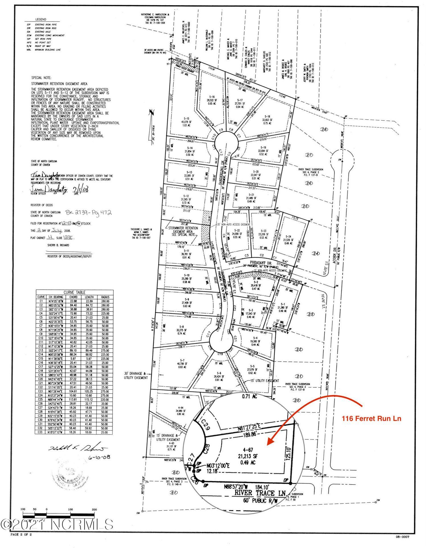 Photo of 116 Ferret Run Lane, New Bern, NC 28562 (MLS # 100252912)