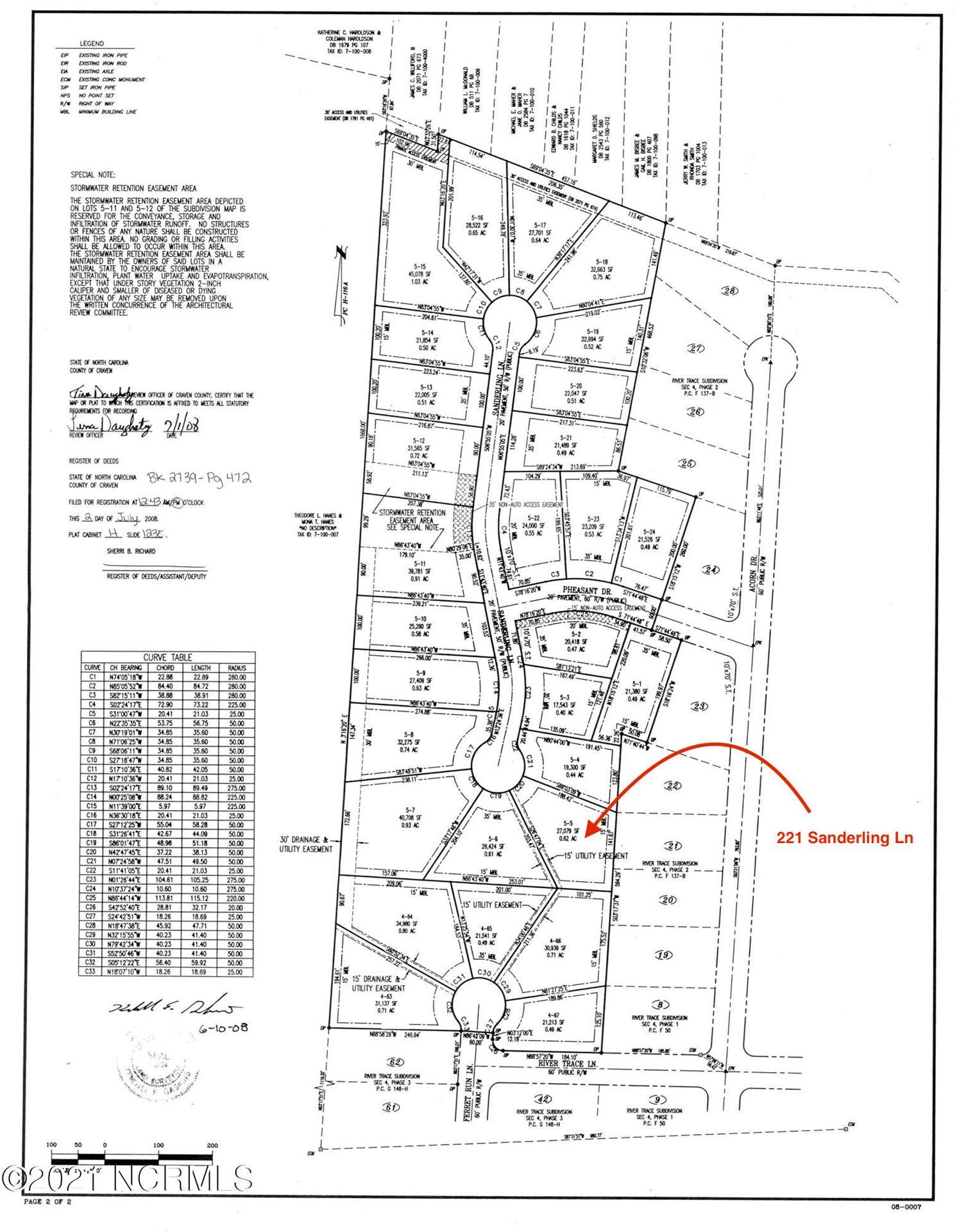 Photo of 221 Sanderling Lane, New Bern, NC 28562 (MLS # 100252916)