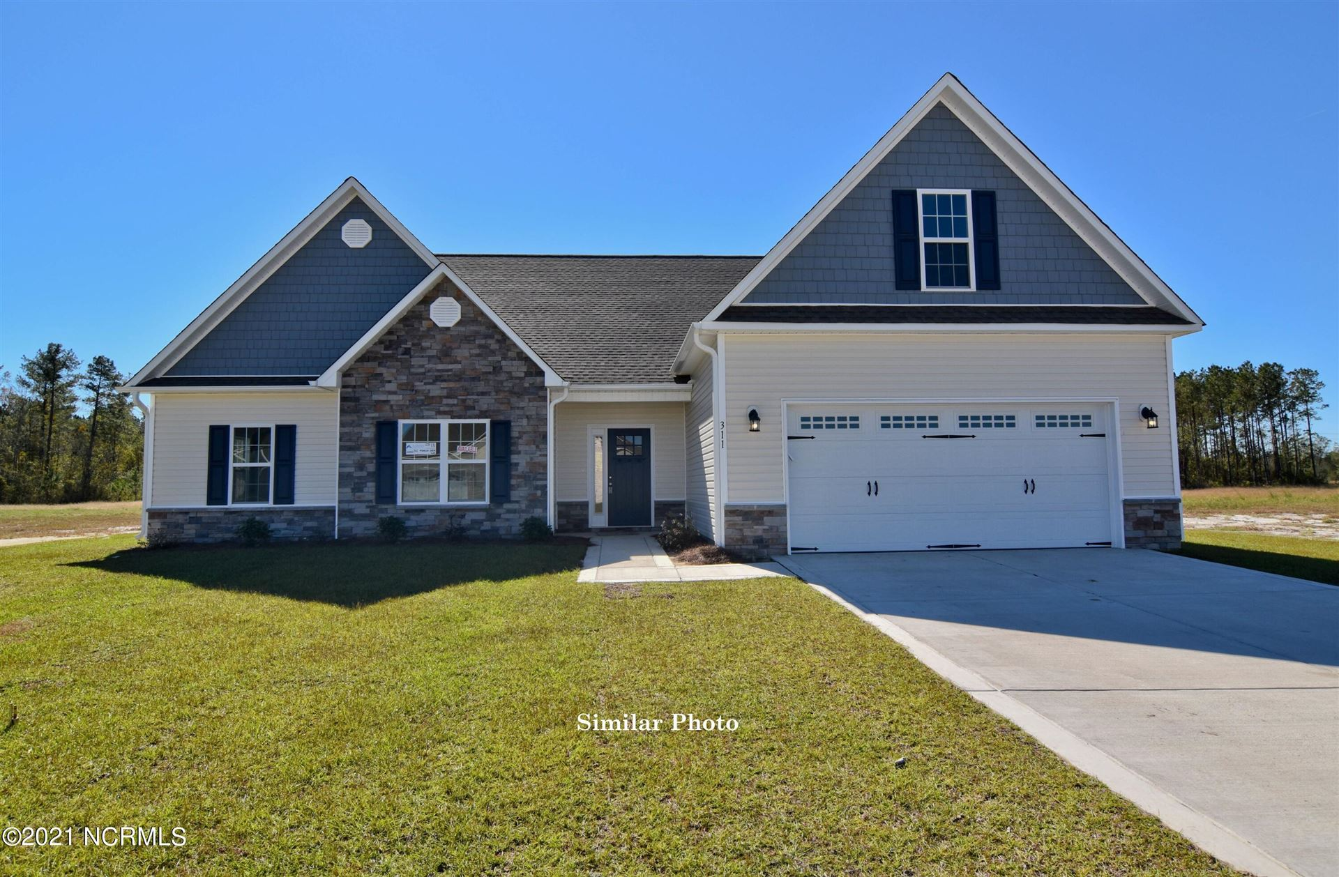 Photo of 112 Evergreen Forest Drive, Sneads Ferry, NC 28460 (MLS # 100287916)