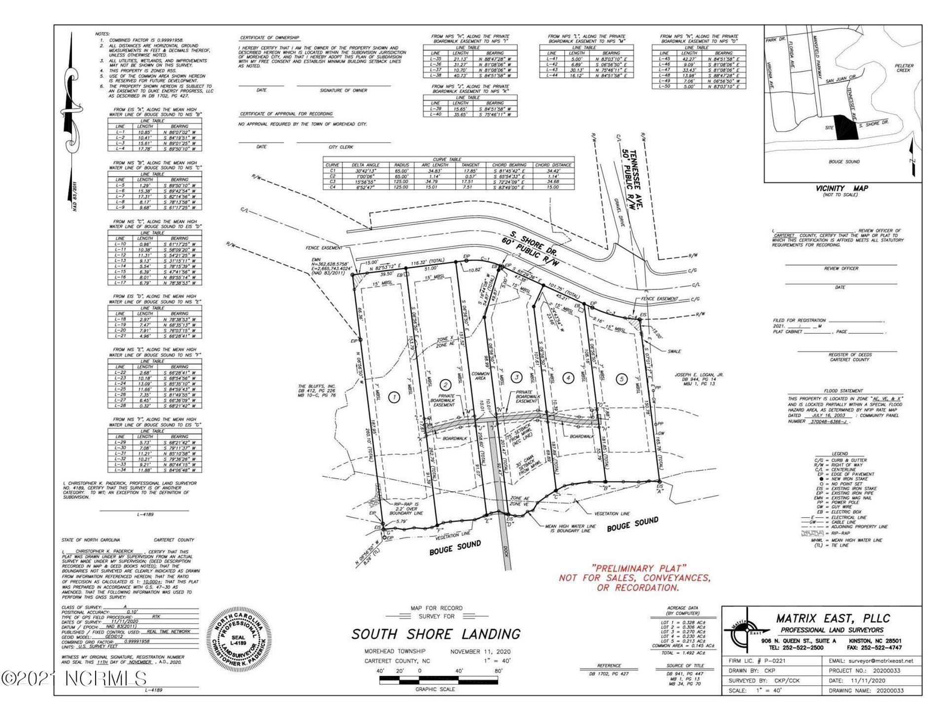 Photo of 4707 Lot 2 S Shore Drive, Morehead City, NC 28557 (MLS # 100284968)