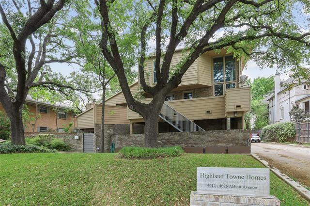 Photo for 4616 Abbott Avenue #B1, Highland Park, TX 75205 (MLS # 14558380)