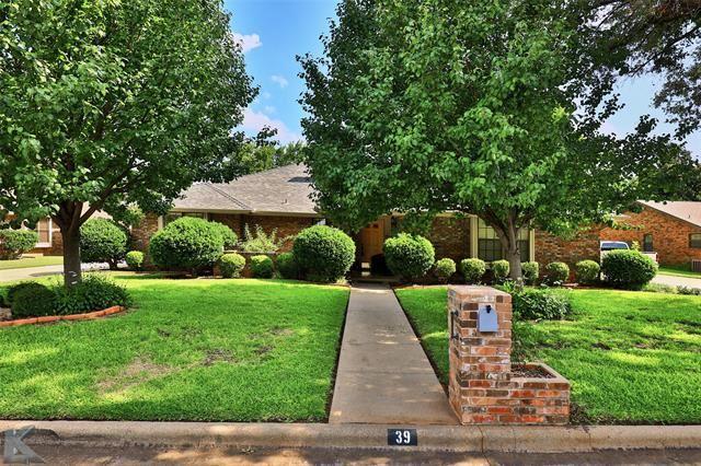 39 Augusta Drive, Abilene, TX 79606 - MLS#: 14628759