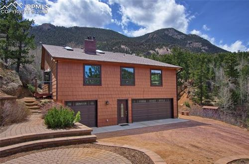 Photo of 5865 Waterfall Loop, Manitou Springs, CO 80829 (MLS # 6707445)