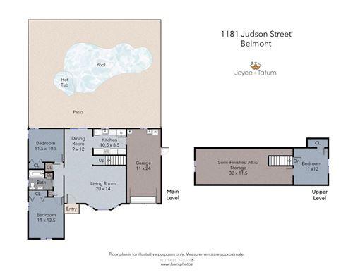Tiny photo for 1181 Judson ST, BELMONT, CA 94002 (MLS # ML81808188)