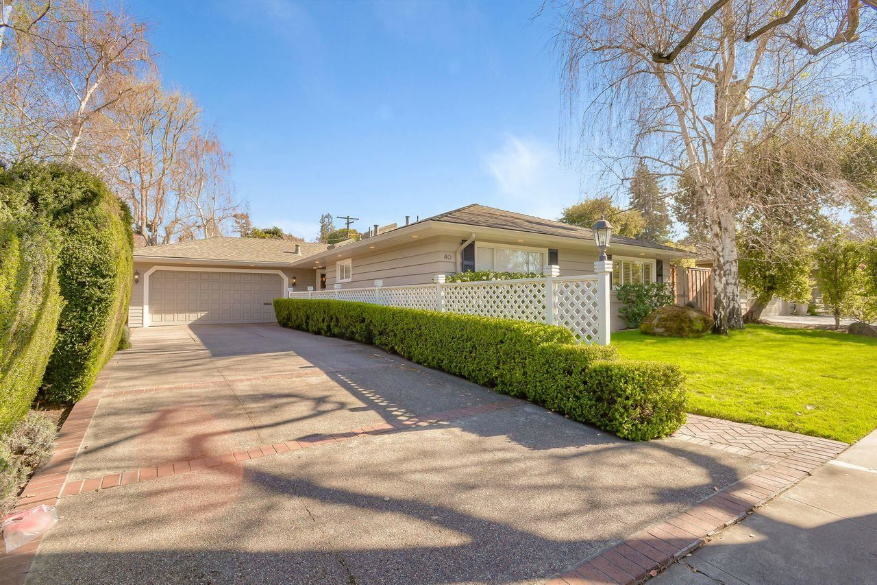 40 Willow RD, Menlo Park, CA 94025 - #: ML81827458