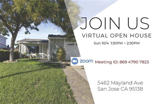 Photo of 5462 Mayland AVE, SAN JOSE, CA 95138 (MLS # ML81813462)