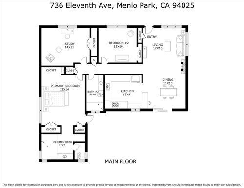 Tiny photo for 736 11th Avenue, MENLO PARK, CA 94025 (MLS # ML81854491)
