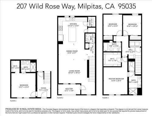 Tiny photo for 207 Wild Rose Way, MILPITAS, CA 95035 (MLS # ML81865536)