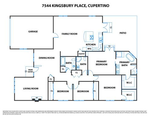 Tiny photo for 7544 Kingsbury PL, CUPERTINO, CA 95014 (MLS # ML81808621)