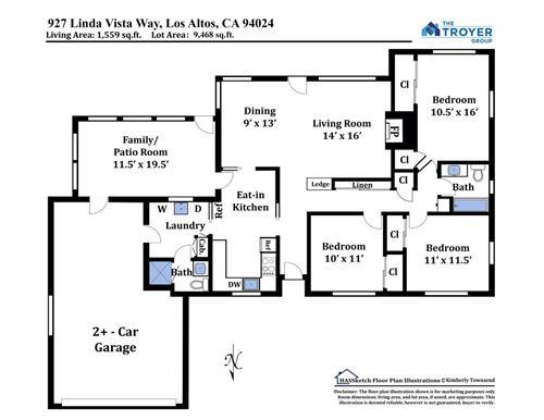 Tiny photo for 927 Linda Vista WAY, LOS ALTOS, CA 94024 (MLS # ML81837648)
