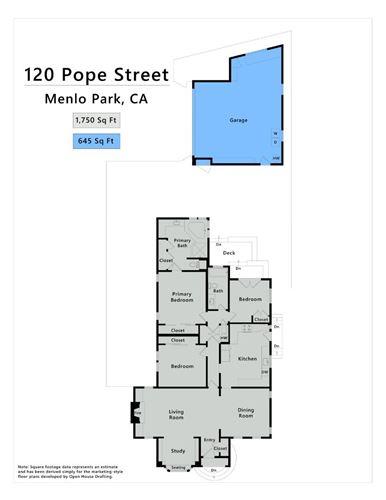 Tiny photo for 120 Pope Street, MENLO PARK, CA 94025 (MLS # ML81861738)