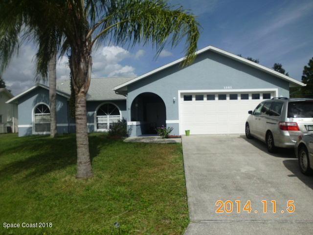 1501 NW Giles Street, Palm Bay, FL 32907 - #: 827081