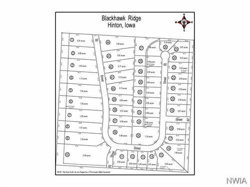 Tiny photo for LOT 17 BLACKHAWK RIDGE, Hinton, IA 51024 (MLS # 716112)