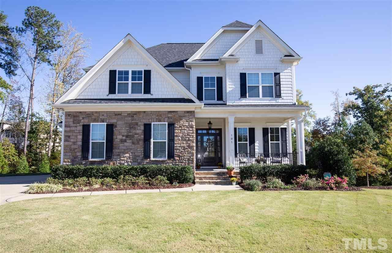 Photo of 101 Meares Bluff Lane, Holly Springs, NC 27540 (MLS # 2351417)