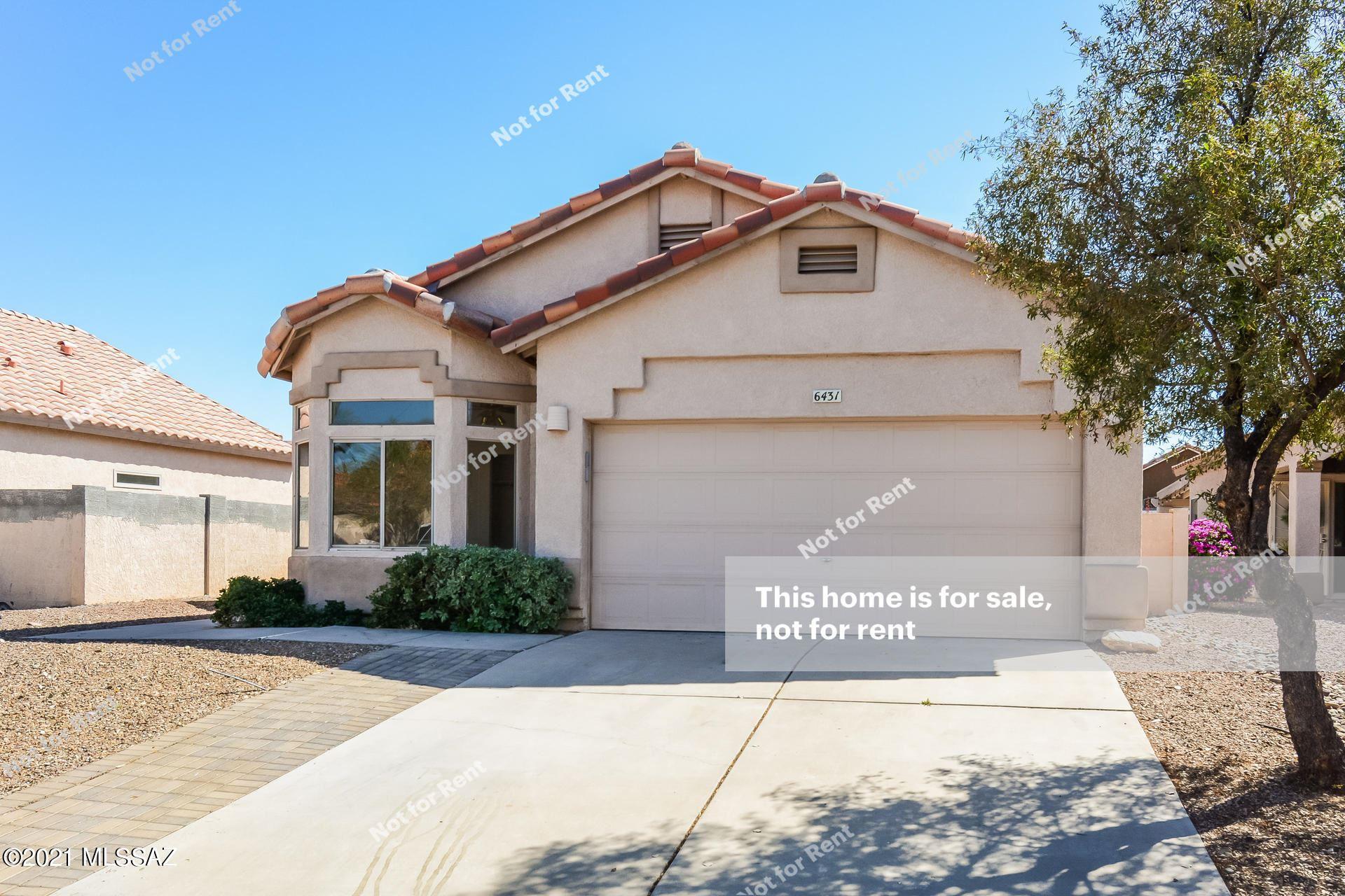 6431 W Rosamond Way, Tucson, AZ 85743 - MLS#: 22109483
