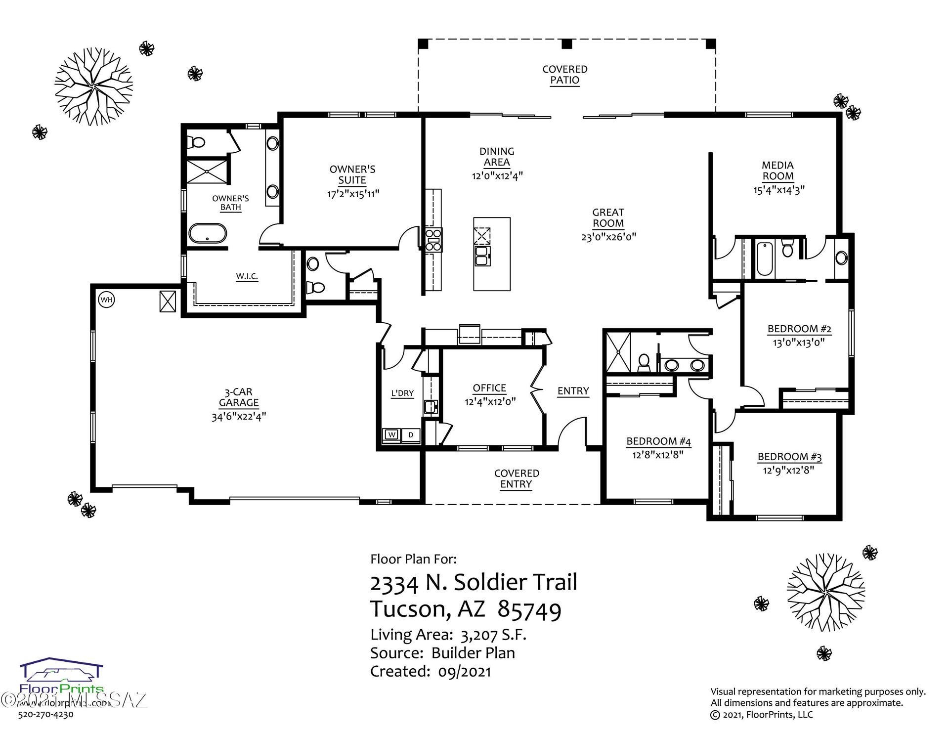 2334 N Soldier Trail, Tucson, AZ 85749 - MLS#: 22123575