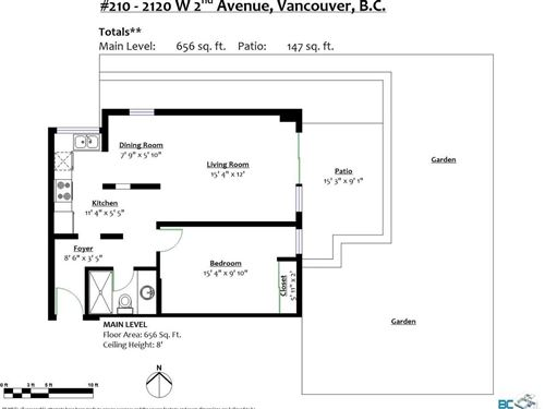 Tiny photo for 210 2120 W 2ND AVENUE, Vancouver, BC V6K 1H6 (MLS # R2625564)