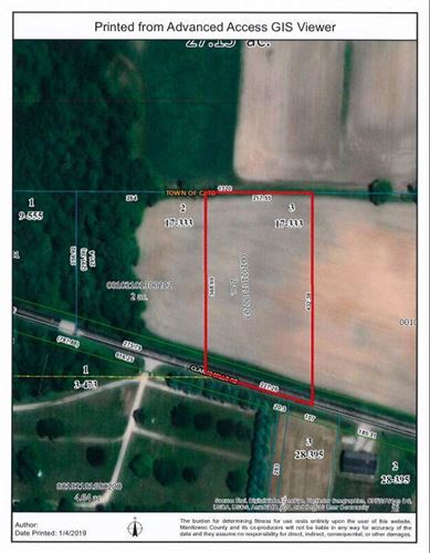 Photo of Tract 3 17 CSM 333 Clarks Mills Rd, Cato, WI 54230 (MLS # 1623588)