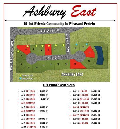 Photo of Lt5 Ashbury East, Pleasant Prairie, WI 53158 (MLS # 1726666)