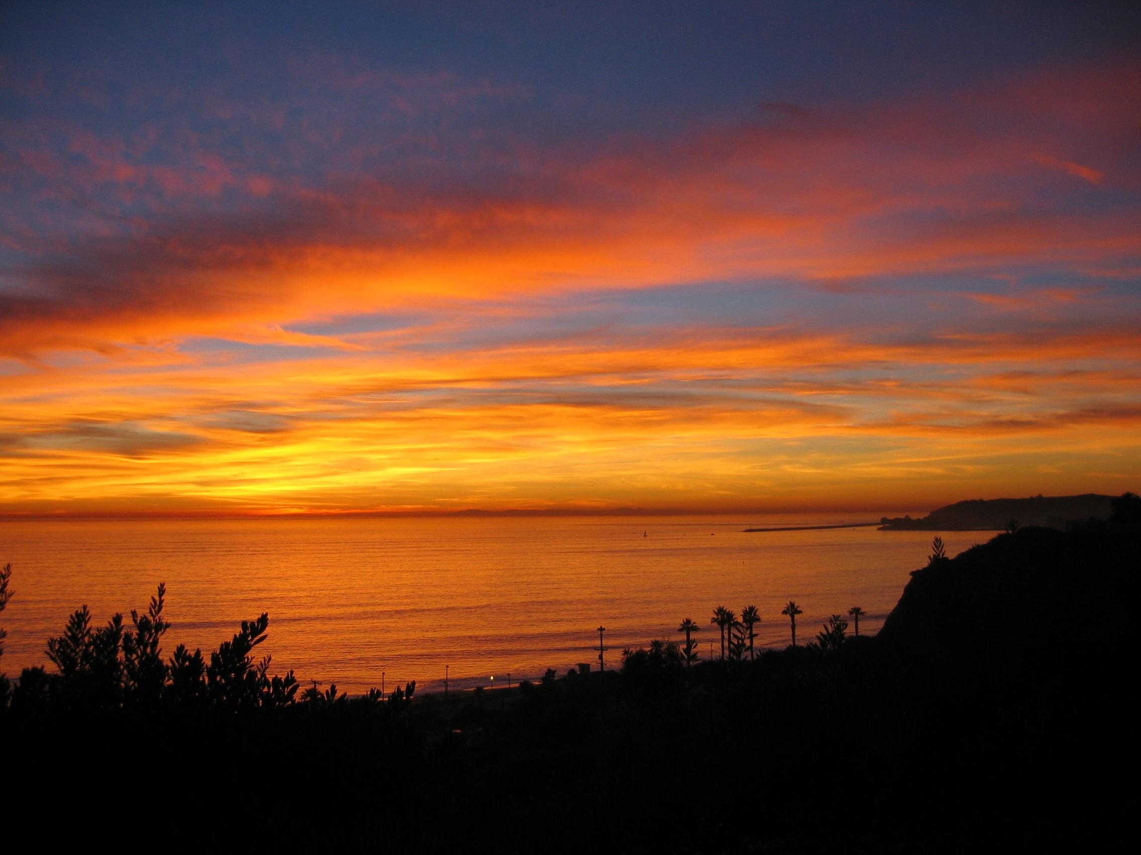 Sunset overlooking Dana Point