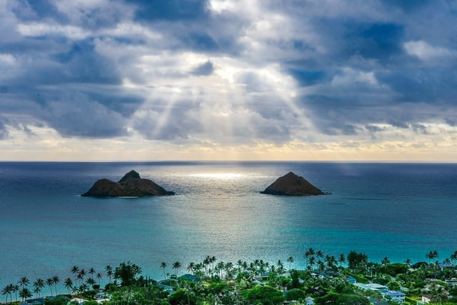 View from Lanakai pillboxes on Oahu
