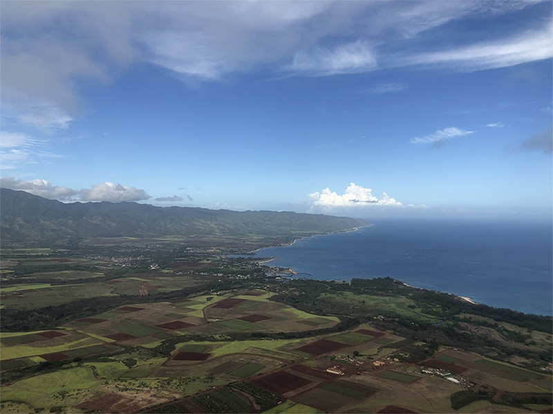 Helicopter tour of Oahu Hawaii